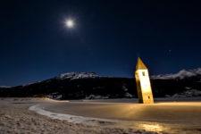Eine Nacht am Reschensee