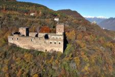 Castel Boymont ad Appiano visto dall'alto