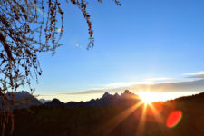 Sonnenaufgang im Primiero Tal