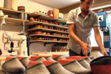 Filzpantoffel Handwerk in Mühlbach
