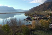 Il Lago di Caldaro ripreso dall'alto