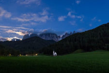 Sunset on Funes / Villnöss