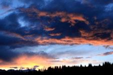 Sonnenuntergang über dem Primiero Tal