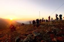 All'alba in cima allo Stoanamandl