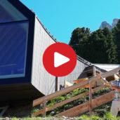 Oberholz Alpine hut in summer