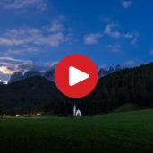 Tramonto in Val di Funes