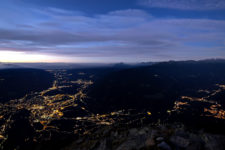 L'alba su Merano