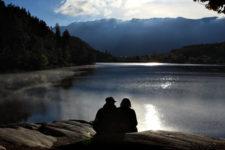 Sonnenuntergang am Montiggler See
