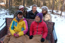 In carrozza sulla neve a Dobbiaco