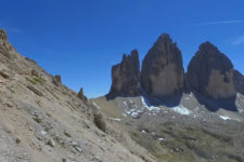 Tre Cime as seen from above