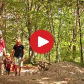 Family walk to the Ice Holes of Appiano