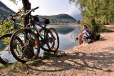 In bici nel bosco di Monticolo