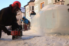 Sculture di ghiaccio in Val Gardena