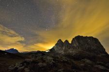 Un'alba sul Sassolungo