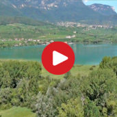 Biotope Area Lake Caldaro / Kaltern as seen from above