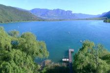 Il lago di Caldaro visto dall'alto