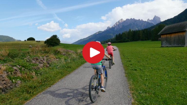 Biking through the Pusteria Valley