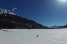 Snowkiting at Lake Resia