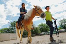 Riding instructor Priska Kelderer