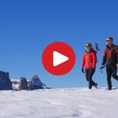 Winter hiking on the Alpe di Suisi