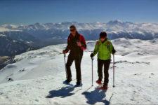 Snowshoeing to Cima Pian del Lago