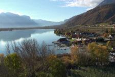 Der Kalterer See aus der Luft