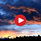Sunset on Primiero Valley