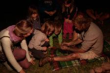 Nachtwanderung mit Lagerfeuer