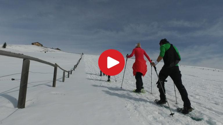 Schneeschuh-Wandern in Lüsen