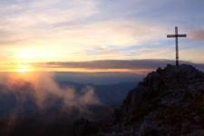 Sul Corno Bianco al tramonto
