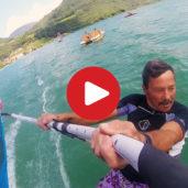 Windsurfing at Lake Caldaro