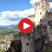 Il castello di Salorno dall'alto