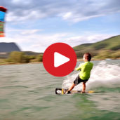 Pure: kitesurfing at Lake Caldaro