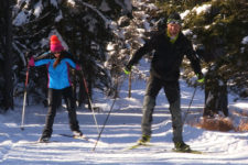 Cross-country skiing at Val d'Ega
