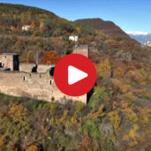 Castel Boymont in Appiano as seen from above