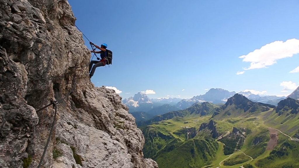 Klettersteig Piz Boe : Video klettersteig cesare piazzetta piz boè