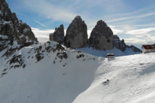 Three Peaks of Lavaredo in winter