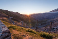 Sunrise over the Stelvio Pass