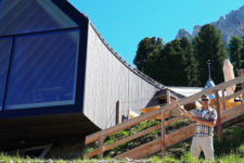 Oberholz Alpine hut in summer