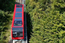 Aerial view of the Mendola Funicular
