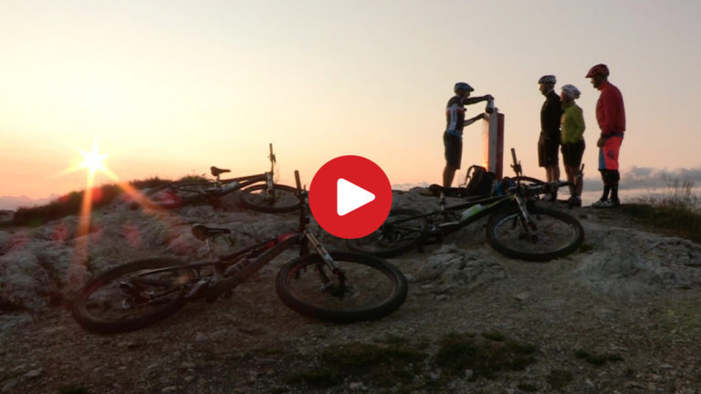 In MTB all'alba sul Monte Roen
