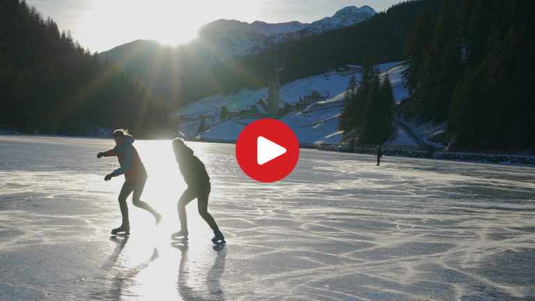 Ice Skating on Lake Valdurna