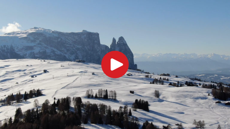 The Alpe di Siusi seen from above