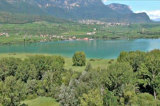 Aerial view of the Lake Caldaro Biotope