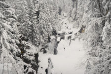 The Riva Waterfalls in winter