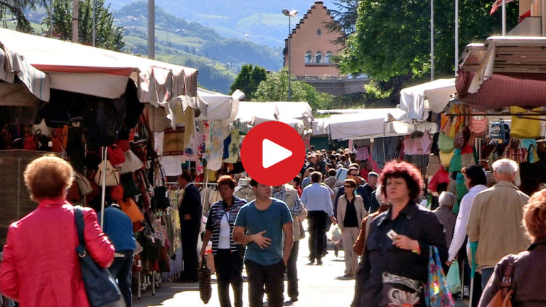 Saturday market in Bolzano