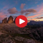 A night at the Three Peaks of Lavaredo