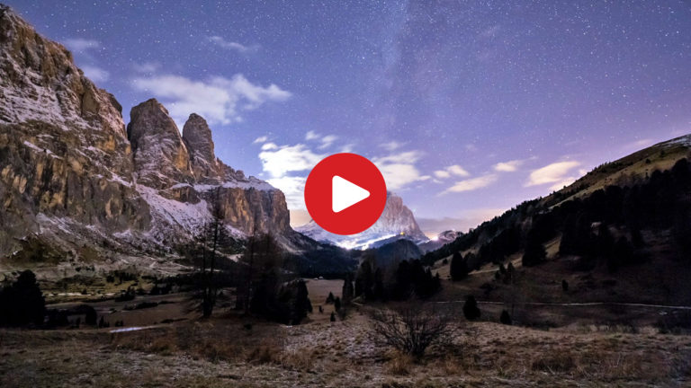 A night at the Passo Gardena pass
