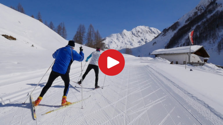 Cross-country skiing in the Valle Aurina
