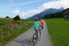 Biking through the Pusteria Valley